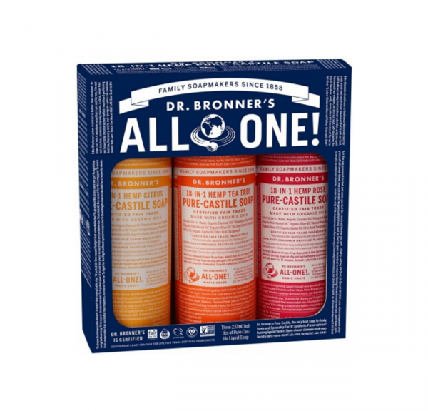 all in one Dr Bronner's Soap
